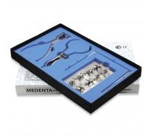 Раббер Дам Set, 8 креплений + 4 инструмента ( Комплект )