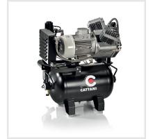 Компрессор стоматологический безмасляный Cattani для cad/cam систем. 165л/мин при 8 атм, ресивер 45л (без кожуха) Cattani (Италия)