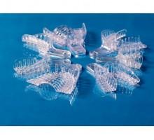 Ложки для имплантологии перфорированные пластиковые - частичные,  12 шт