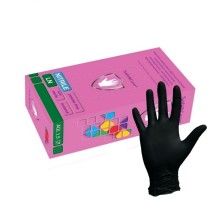 Перчатки чёрные нитриловые  ( Safe&Care )