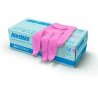 Нитриловые  перчатки NitriMAX ( Розовые )